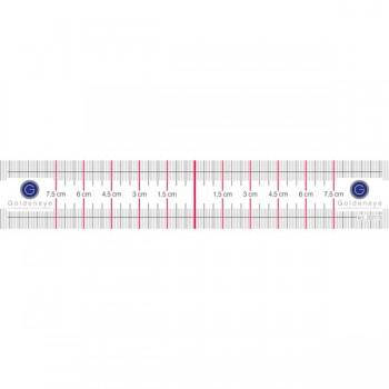 PMU Symmetrie Lineal - 3,5x21 cm, selbstklebend
