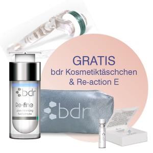 bdr Frühlingskur für die Haut - Re-fine + Needlingroller + Re-action E in Tasche