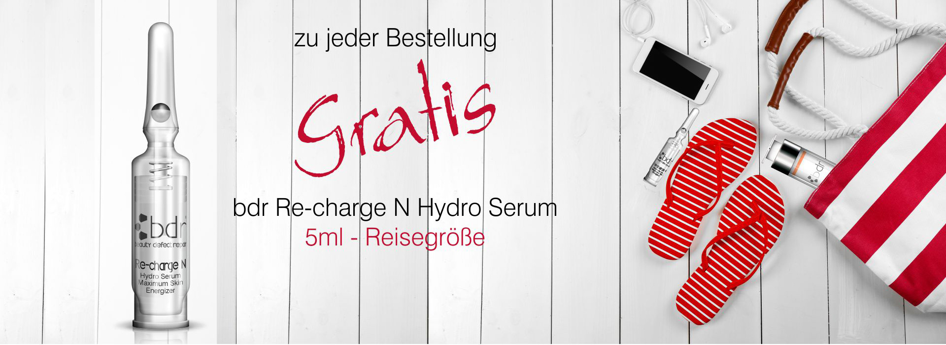 GRATIS bdr Re-charge N Hydro Serum